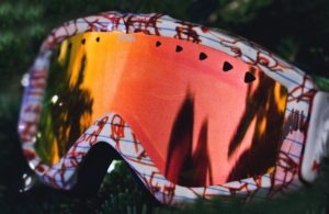 Specialized sports eye wear such as polarized ski goggles protects against UV and injury