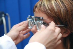 Patient with Optometrist