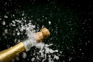 Minimize the danger of champagne cork popping, cork